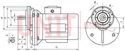 Габаритные и присоединительные размеры UD-PC/RV